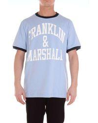 Franklin & Marshall Light Cotton T-shirt - Blue