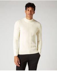 Remus Uomo Slim Fit Cotton-blend Knitwear Cream | - Natural