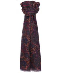Ascot Accessories - Wool Patterned Scarf - Lyst