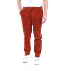 Incotex Men's 1agw3040835ruggine Red Cotton Trousers
