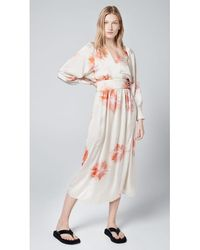 Smythe Wrap Dress Tie Dye - Multicolour