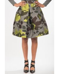 P.A.R.O.S.H. - Floral Printed Skirt - Lyst