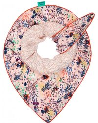 POM Amsterdam Double Flowers Scarf - Pink