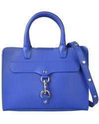 Rebecca Minkoff Mini Satchel Leather Bag - Blue