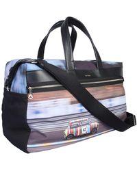Paul Smith Mini Print Travel Bag - Black