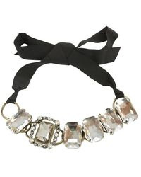 Lanvin Black Metal Necklace