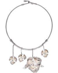 Thale Blanc Orchid Garden Necklace - Metallic