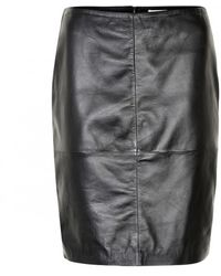 Soaked In Luxury Folly Leather Skirt Black
