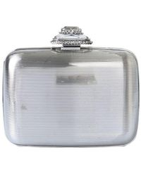 McQ Clutch With Jewel - Metallic