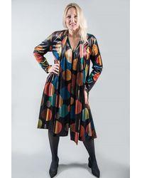 Out Of Xile Scarf Coat Velvet Eclipse - Multicolour