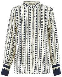 Marella Cluny Patterned Blouse - White