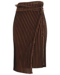 Y. Project Women's Wmskirt4s20y12 Brown Cotton Skirt