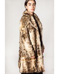 Just Female Enzo Fake Fur Coat - Multicolour