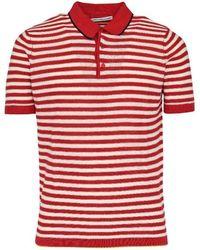 Daniele Alessandrini Cotton Polo Shirt - Red