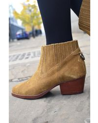 H by Hudson - Hudson Ernest Suede Tan Boots - Lyst