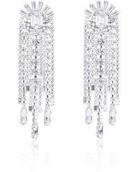 Thale Blanc Waterfall Swarovski Earrings - Metallic