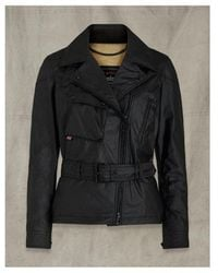 Belstaff Sammy Miller Wax Jacket Colour: Black