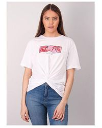 Replay Floral Twist Tee Colour: - White