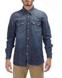 Department 5 Denim Shirt - Blue