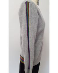 Cocoa Cashmere - Rainbow Trim Jumper - Lyst
