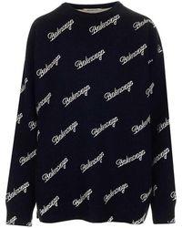 Balenciaga Women's 646693t41121070 Black Wool Jumper
