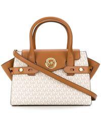 Michael Kors Leather Handbag - White