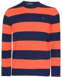 Ralph Lauren Polo Loryelle Striped Knitted Sweater Navy - Blue