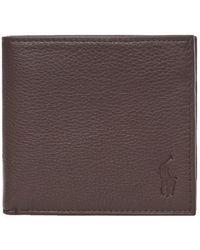 Ralph Lauren Billfold Wallet Debossed – Brown - Black