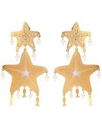 Mercedes Salazar Gold Starfish Earrings - Metallic