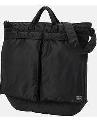 Porter Porter Yoshida & Co Tanker Two Way Helmet Bag - Black