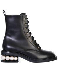 "Nicholas Kirkwood ""casati"" Combat Boots - Black"