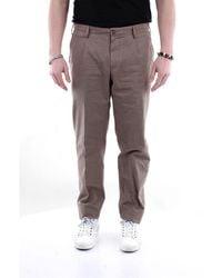 PT Torino - Trousers Regular Men Mud And Black - Lyst