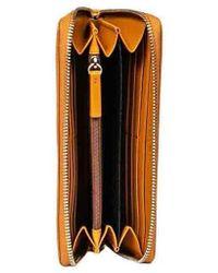 Borbonese Beige Leather Wallet - Brown