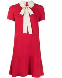 RED Valentino - Women's Vr3vaf050w7le0 Red Acetate Dress - Lyst