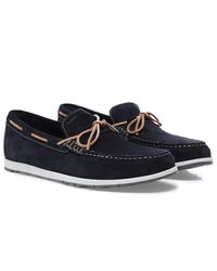 Geox Suede Calarossa Loafers Colour: Navy - Blue