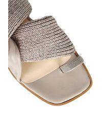 Fabiana Filippi Flat Shoes Beige - White
