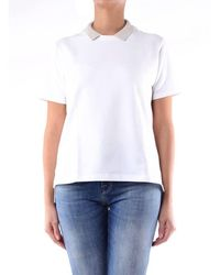 Eleventy White Short-sleeved Polo Shirt