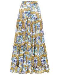 Paolita Phoenix Button Maxi Skirt - Blue