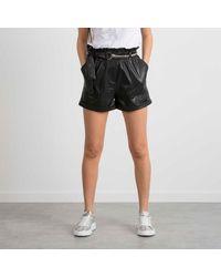 Patrizia Pepe Shorts Synthetic Leather - Black