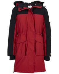 Tommy Hilfiger - Tommy Icons Bicolour Parka Coat - Lyst
