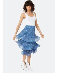 Traffic People Animal Midi Ra Ra Skirt - Blue