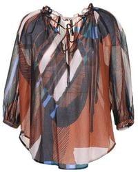 Manila Grace Shirts - Brown