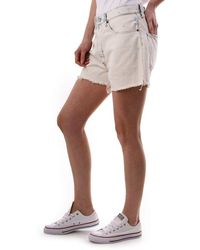 Polo Ralph Lauren Boyfriend Fit Distressed Denim Shorts - White