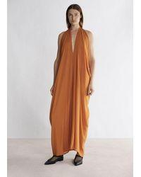 Rodebjer Sheer Summer Dress - Orange