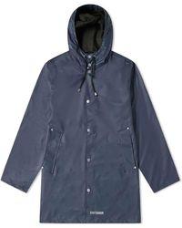 Stutterheim Stockholm Lightweight Raincoat Navy - Blue