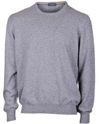Paolo Fiorillo Capri Cashmere Crew Neck Basic Sweater - Grey