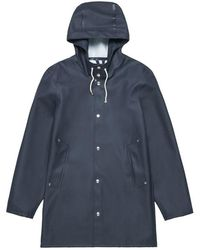 Stutterheim Stockholm Navy Raincoat By - Blue