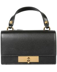 McQ Bag With Skull Closure - Black