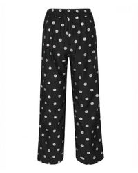 Stine Goya Debra Cropped Floral-jacquard Straight-leg Trousers - Black