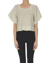 Bellerose Cropped Cotton Top - Multicolor